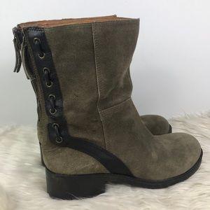 Nine West Vintage America zip suede boots EUC